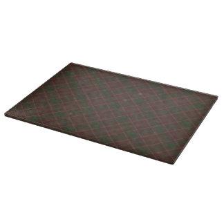 深紅及び緑の格子縞 カッティングボード