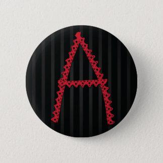 深紅手紙ボタン 5.7CM 丸型バッジ