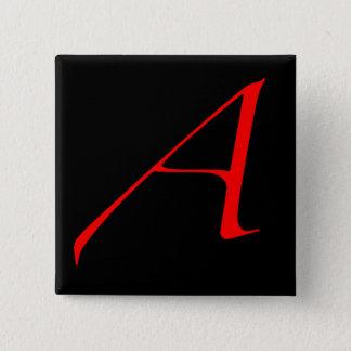 深紅手紙 5.1CM 正方形バッジ