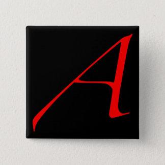 深紅手紙A (無神論者のために) 5.1CM 正方形バッジ