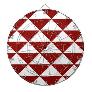 深紅色および白い三角形 ダーツボード