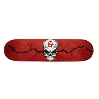 深紅色のスカルの無秩序 19.7CM スケートボードデッキ