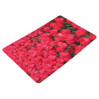 深紅色のチューリップのFallnのカーペット フロアマット