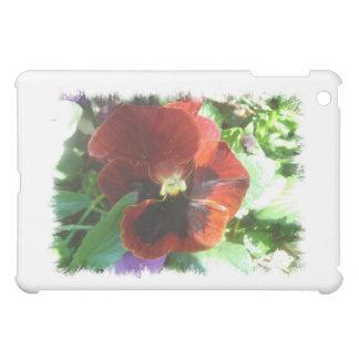 深紅色のパンジー iPad MINI カバー