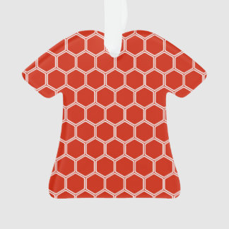 深紅色の六角形1 オーナメント