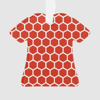 深紅色の六角形2 オーナメント