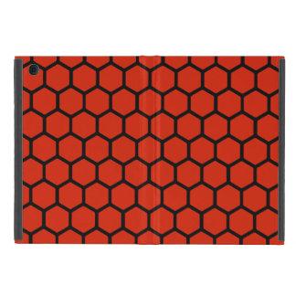 深紅色の六角形4 iPad MINI ケース