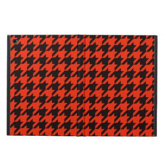 深紅色の千鳥格子のな2 POWIS iPad AIR 2 ケース