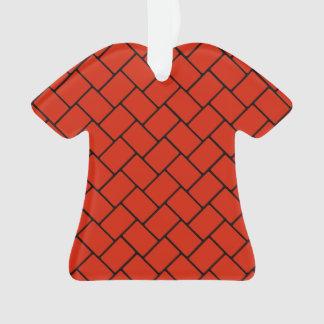 深紅色の斜子織2 オーナメント