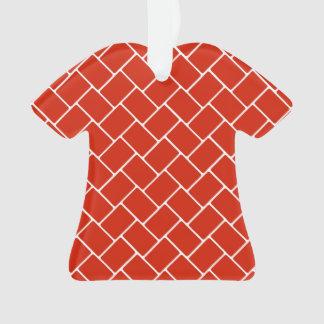 深紅色の斜子織 オーナメント