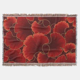 深紅色の花の投球 スローブランケット