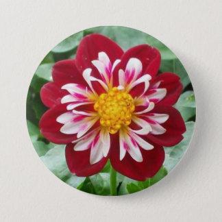 深紅色の花ボタン 7.6CM 丸型バッジ