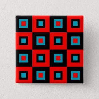 深紅色の青い眩暈 5.1CM 正方形バッジ