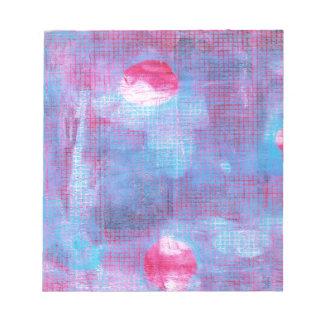 深紅色クローバーの抽象美術の暗い赤紫色のピンクの青 ノートパッド