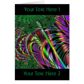 深緑のおよび多色刷りのフラクタルの設計 カード