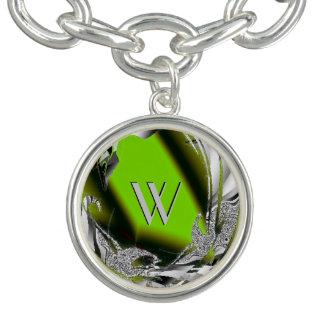 深緑のフラクタルデザイン チャームブレス