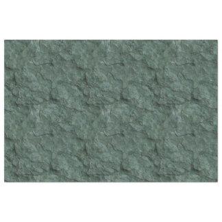 深緑の織り目加工の石造りの効果 薄葉紙