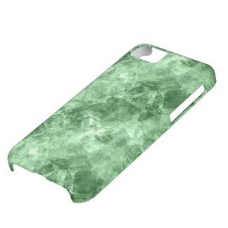 深緑色のしわにされた質 iPhone5Cケース
