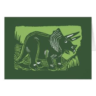 深緑色のトリケラトプスカード カード
