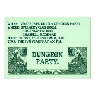 深緑色のドラゴン及び地下牢の~PARTYの招待状! カード
