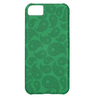 深緑色のペーズリー iPhone5Cケース
