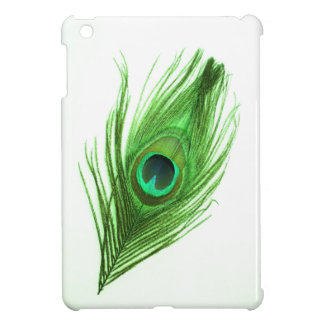 深緑色の孔雀の羽のiPad Miniケース iPad Miniケース