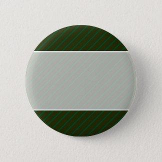 深緑色の斜めの縞模様 5.7CM 丸型バッジ