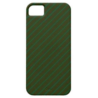 深緑色の斜めの縞模様 iPhone SE/5/5s ケース