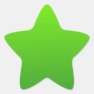深緑色の横の勾配への芝生の緑 星シール