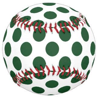 深緑色の水玉模様 ソフトボール
