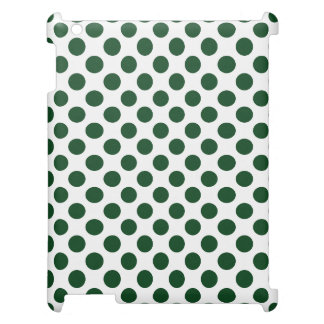 深緑色の水玉模様 iPadケース