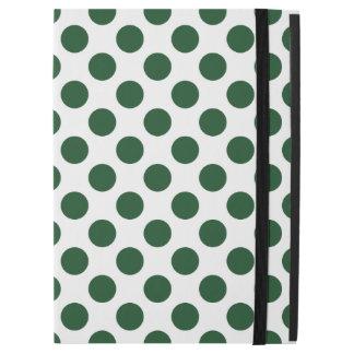 """深緑色の水玉模様 iPad PRO 12.9"""" ケース"""