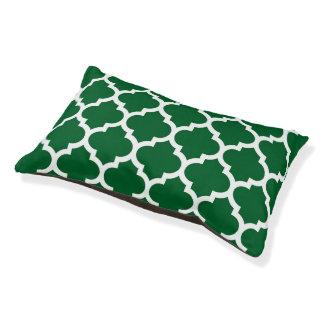 深緑色の白いモロッコのクローバーパターン#5