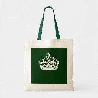 深緑色の穏やかな王冠アイコンを保って下さい トートバッグ