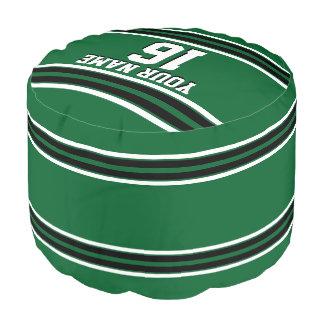 深緑色の黒のチームジャージーカスタムな数名前 プーフ