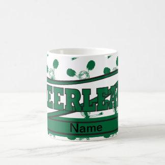 深緑色チアリーダーのマグを個人化して下さい コーヒーマグカップ