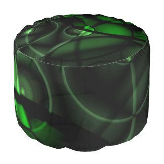深緑色 ラウンドクッション