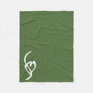 深緑色Smuffinのポルノの印のフリースブランケット フリースブランケット