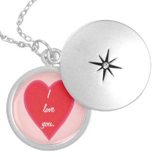混ぜられた赤いハートのバレンタインのネックレス シルバープレートネックレス