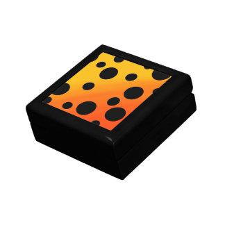 混ぜられたOrangeToYellowの黒い点 ギフトボックス
