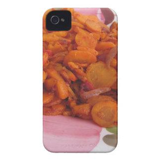 混乱揚げられていたにんじんのプレート Case-Mate iPhone 4 ケース