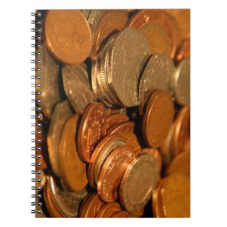 混合されたイギリスの硬貨 ノートブック