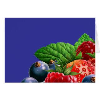 混合されたフルーツ カード