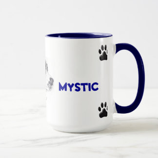 混合された品種犬が付いているマグ マグカップ