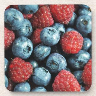 混合された果実の(ブルーベリーおよびラズベリー)デザイン コースター