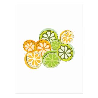 混合された柑橘類 ポストカード