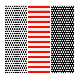 混合された白いパターン: 点の格子は、縞で飾りましたり、点を打ちます トリプティカ