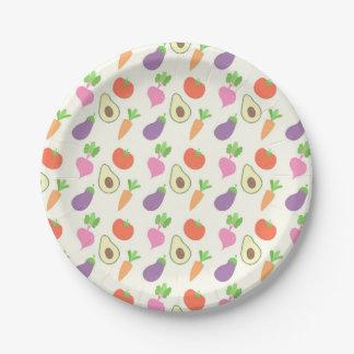 混合された野菜パターン ペーパープレート