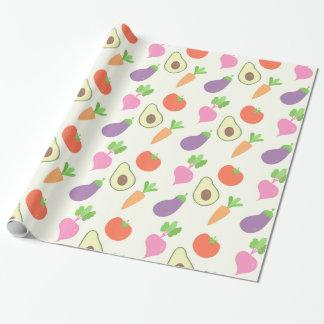 混合された野菜パターン 包装紙