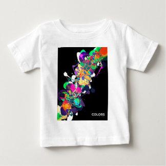 混合メディア色1 ベビーTシャツ